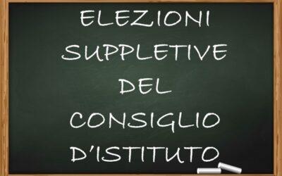 Elezioni Suppletive del Consiglio d'Istituto – Componente Genitori e Personale A.T.A.