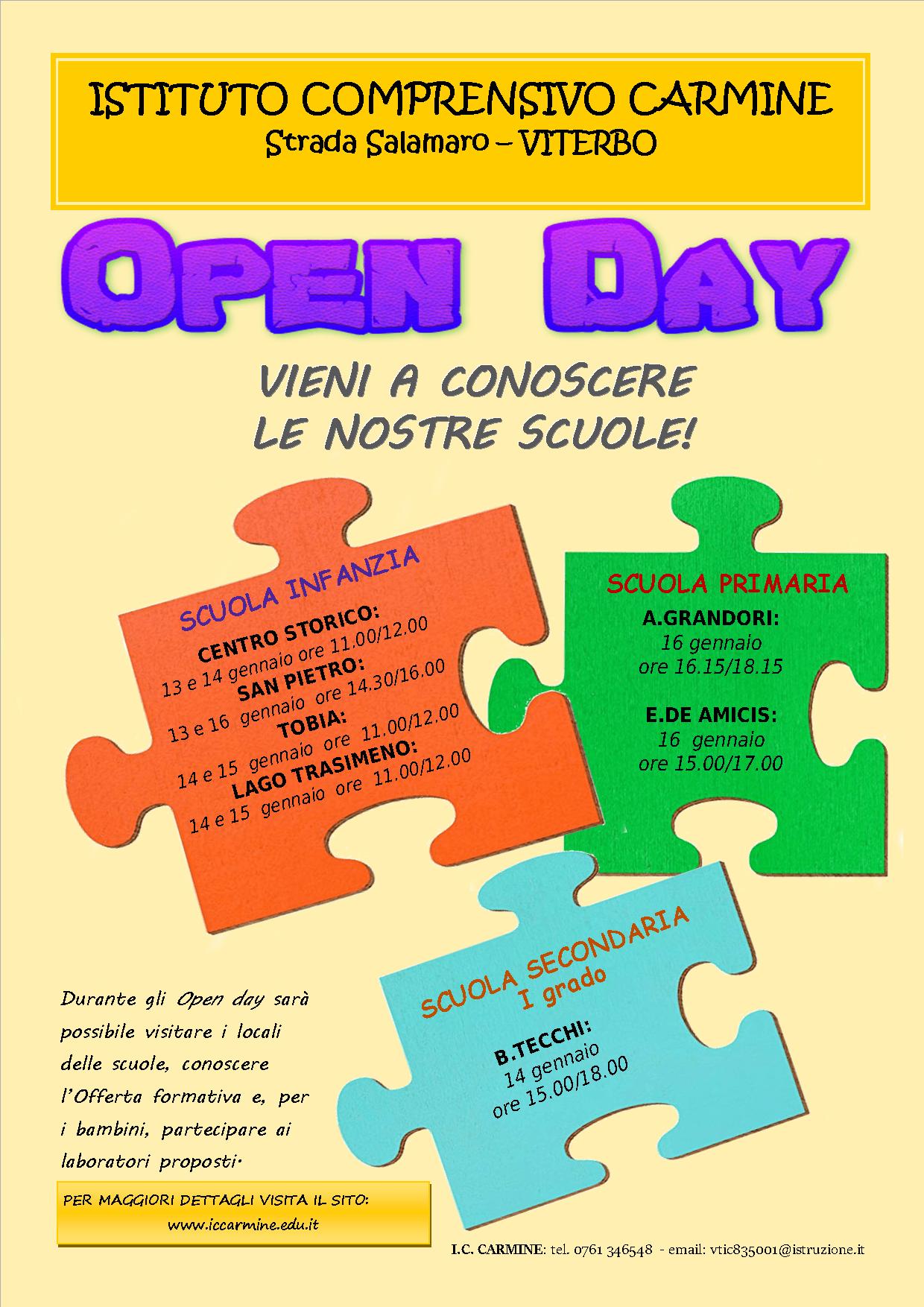 Open Day – gennaio 2020